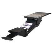 Knape & Vogt Extended Range Adjustable Keyboard Arm with Keynetix Paddle, Black