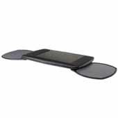Knape & Vogt Dual Mouse Under Phenolic Keyboard, Mouse Platform with Palm Rest, Black
