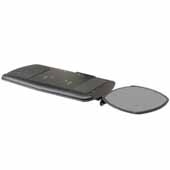 Knape & Vogt Reversible Mouse Over Phenolic Keyboard & Mouse Platform with Palm Rest, Black