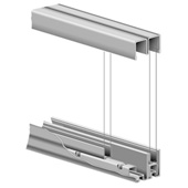 Roll-Ezy Sliding Door Track Assembly for 36'' Openings, 144''W x 1''D x 1''H