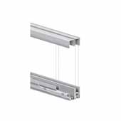 Roll-Ezy Sliding Door Track Assembly for 48'' Openings, 144''W x 1''D x 1''H