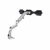 Knape & Vogt Flat Screen Monitor Arm, Poise Twin Flat Panel Monitor Mount, Black