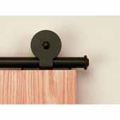 Knape & Vogt Sliding Door Hardware Monte Carlo Short Bracket Aluminum Round Track Component Kitin Black, Oil Rubbed Bronze and Satin Nickel Finishes