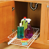 12 1/8'' W Multi-Use Slide Out Baskets for Kitchen or Vanity Cabinet, Min Cab Opening: 11-3/4'' W x 20'' D x 5-5/16'' H
