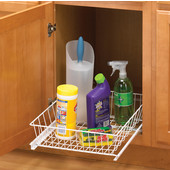 15 1/8'' W Multi-Use Slide Out Baskets for Kitchen or Vanity Cabinet, Min Cab Opening: 14-3/4'' W x 20'' D x 5-5/16'' H
