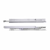 Knape & Vogt 12'' Full Extension Soft-Close Undermount Drawer Slide, 5/8'' to 3/4'' Material Thickness, Zinc Finish