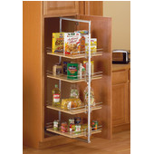 48'' H - 53-3/8'' H Center-Mount Pantry Roll-Out, Frosted Nickel