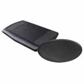 Knape & Vogt Comfort Keyboard and Mouse Over Platform with Palm rest, Black