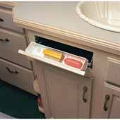Knape & Vogt Polymer Sink Front Tray With Ring Holder, White, 11''W x 2''D x 3''H