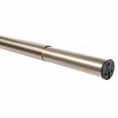 30''- 48'' Heavy-Duty Adjustable Closet Rods, Brushed Nickel, 1-1/4'' Outer Diameter