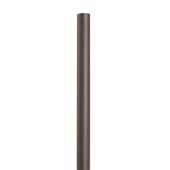 Knape & Vogt 48'', 72'' and 96'' Barn Door Aluminum Round Tracks for Doors Up to 250 lbs., Oil Rubbed Bronze, Individual Order