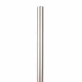 Knape & Vogt 48'', 72'' and 96'' Barn Door Aluminum Round Track for Doors Up to 250 lbs., Satin Nickel, Individual Order