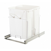 Standard Bottom-Mount Built-In Waste & Recycling Bin, 2 x 5 Gallon Double Bin, Min. Cabinet Opening: 15'' Wide