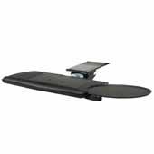 Knape & Vogt Combo Pack Optimal Keyboard Arm and Comfort Keyboard & Mouse Over Platform with Palm Support, Black, 18'' Track Length