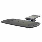 Knape & Vogt Combo Pack Optimal Keyboard Arm and Comfort Keyboard Platform w/o Palm Support, Black, 18'' Track Length