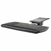 Knape & Vogt Combo Pack Optimal Keyboard Arm and Comfort Keyboard Platform with Palm Support, Black, 18'' Track Length