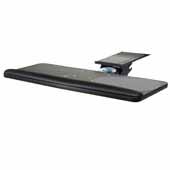 Knape & Vogt Combo Pack Optimal Keyboard Arm and Full Width, Melamine Keyboard and Mouse Platform with Palm Support, Black, 18'' Track Length