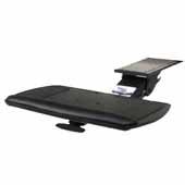 Knape & Vogt Combo Pack Extended Range Keynetix Keyboard Arm and Comfort Keyboard Platform with Palm Support, Black, 21'' Track Length