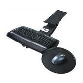 - Keyboard Tray w/Round Mouse Tray, 20'' W x 10 2/5'' D