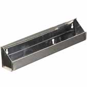 Knape & Vogt Sink Front Trays Without Stops, Standard Depth, Stainless Steel, 10-1/16''W x 2''D x 3''H