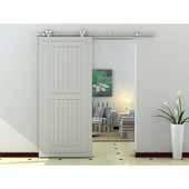 Knape & Vogt 78-3/4'' Sliding Door Hardware Top Mount Dual Wheel Kit for Wood Doors Up to 250 lbs., Stainless Steel