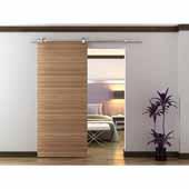 Knape & Vogt 78-3/4'' Sliding Door Hardware Top Mount Stick Kit for Wood Doors Up to 250 lbs., Stainless Steel