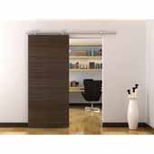 Knape & Vogt 78-3/4'' Sliding Door Hardware Top Mount Spoke Wheel Kit for Wood Doors Up to 250 lbs., Stainless Steel