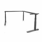 Allegretto 24'' Height Adjustable Table Frame Kit with 3-Legs and Electric Motor in Silver Finish