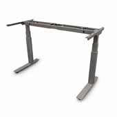 Allegretto 30'' Height Adjustable Table Frame Kit with 2-Legs and Electric Motor in Black Finish
