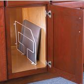 White Kitchen Cabinet Tray Divider, 7/8''W x 19-1/2''D x 12''H