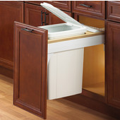 Soft Close, Top Mount Waste & Recycling Single Bin, Min. Cabinet Opening: 11-1/2'' Wide