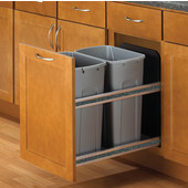 Double Soft Close, Undermount Double Waste & Recycling Bins, Min. Cabinet Opening: 15'' Wide