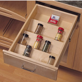 16-1/8'' W Wood Spice Tray Drawer Insert