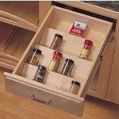 10-1/8'' W Wood Spice Tray Drawer Insert