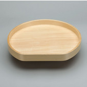 Lazy Daisy by Rev-A-Shelf 28'' D-Shape Banded Wood Single Tray Lazy Susan for Diagonal Base Cabinet