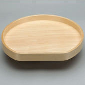 Lazy Daisy by Rev-A-Shelf 32'' D-Shape Banded Wood Single Tray Lazy Susan for Diagonal Base Cabinet