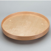 Rev-A-Shelf 24'' Dia. Full Round Best Quality Natural Wood Single Tray Lazy Susan for Shelf Mounting