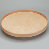 Rev-A-Shelf 32'' Dia. Full Round Best Quality Natural Wood Single Tray Lazy Susan for Shelf Mounting