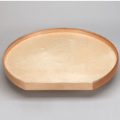 32'' Natural Wood D Shape Susan Tray with No Hole, 32''Diameter x 29-3/8'' D x 3-5/16'' H