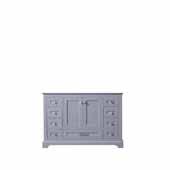 Dukes 48'' Dark Grey Vanity Base Cabinet Only, 47''W x 21-1/2''D x 33-1/4''H