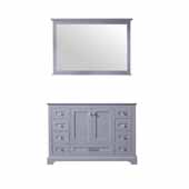 Dukes 48'' Dark Grey Single Vanity Base Only With 46'' Mirror, 47''W x 21-1/2''D x 33-1/4''H