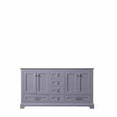 Dukes 60'' Dark Grey Vanity Base Cabinet Only, 59''W x 21-1/2''D x 33-1/4''H