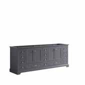 Dukes 84'' Dark Grey Vanity Base Cabinet Only, 83''W x 21-1/2''D x 33-1/4''H