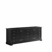 Dukes 84'' Espresso Vanity Base Cabinet Only, 83''W x 21-1/2''D x 33-1/4''H