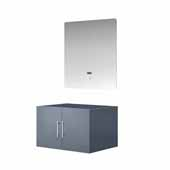 Geneva 30'' Dark Grey Single Vanity Base Only With 30'' LED Mirror, 29-1/4''W x 21-1/2''D x 18-1/4''H