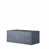 Geneva 48'' Dark Grey Vanity Base Cabinet Only, 47-1/2''W x 21-1/2''D x 18-1/4''H