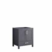 Jacques 30'' Dark Grey Vanity Base Cabinet Only, 29''W x 21-1/2''D x 33-1/4''H