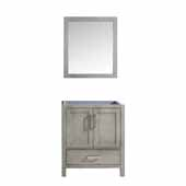 Jacques 30'' Distressed Grey Single Vanity Base Only With 28'' Mirror, 29''W x 21-1/2''D x 33-1/4''H