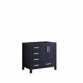 Jacques 36'' Navy Blue Vanity Base Cabinet Only - Right Version, 35'W x 21-1/2'D x 33-1/4'H