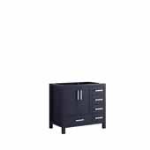 Jacques 36'' Navy Blue Vanity Base Cabinet Only - Left Version, 35'W x 21-1/2'D x 33-1/4'H